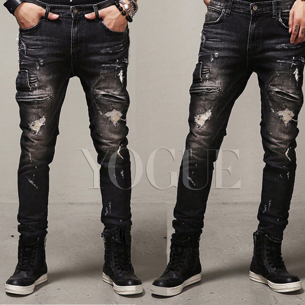 Skinny Jeans for Men Put on a pair of red or white skinny jeans. Or keep it dark with our black skinny jeans. You can't go wrong with whatever you choose. And if you're looking to really slim it down, head over to our super skinny jeans. Refine Your Results By: GUYS.