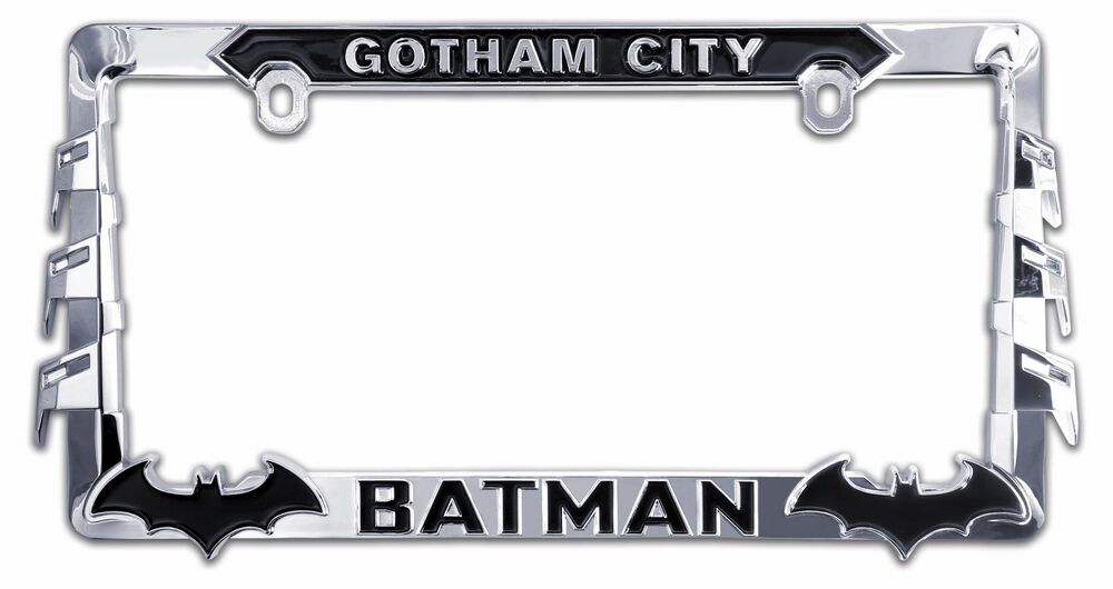 batman gotham city license plate frame ebay