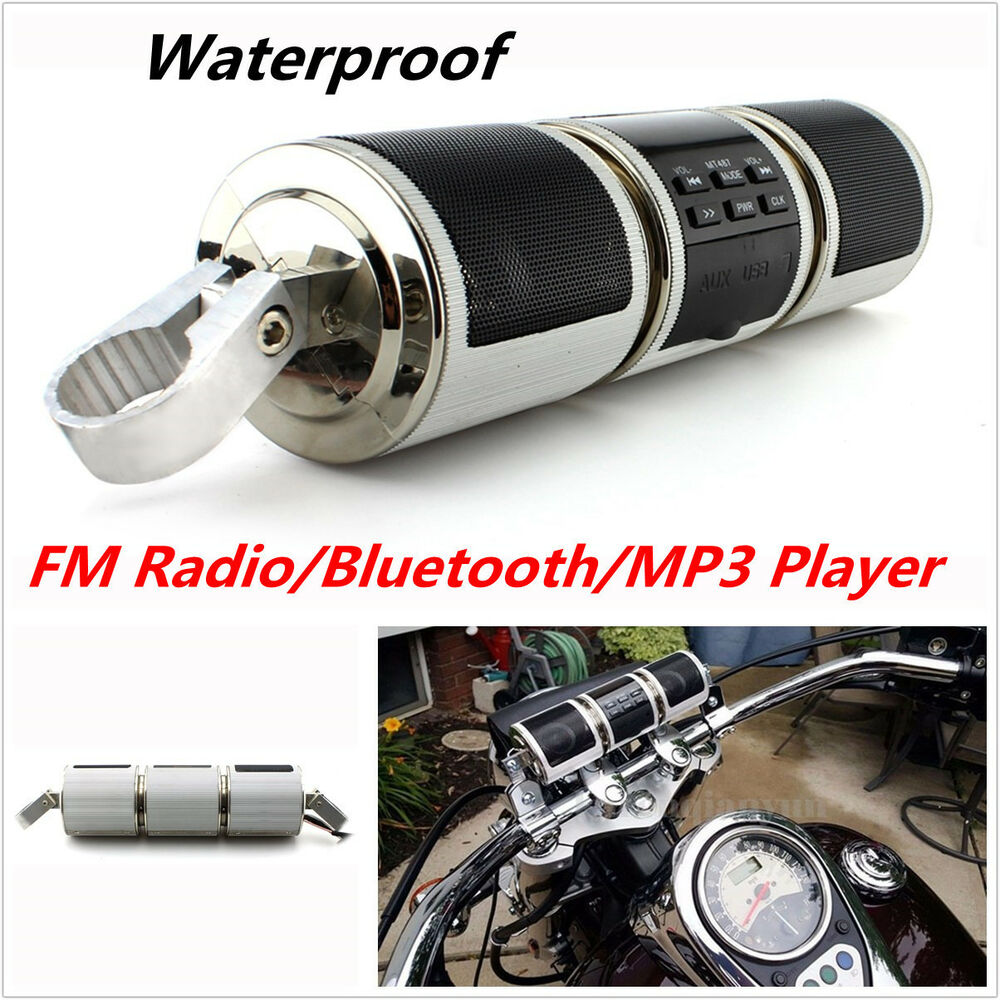 Motorcycle bluetooth audio sound system mp3 fm radio - Waterproof sound system for bathroom ...