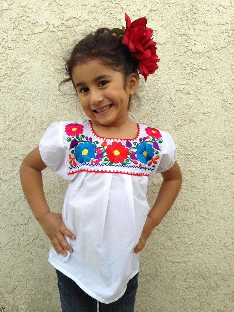 Mexican Embroidered Blouse
