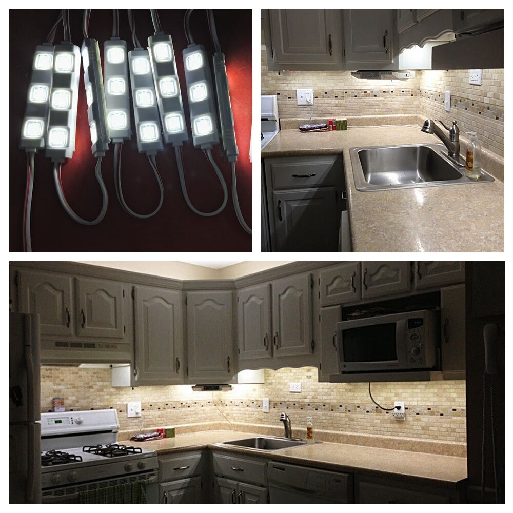 Kitchen Counter Lamps: 5ft 30leds White Closet Kitchen Under Cabinet Counter LED Lighting+remote+power