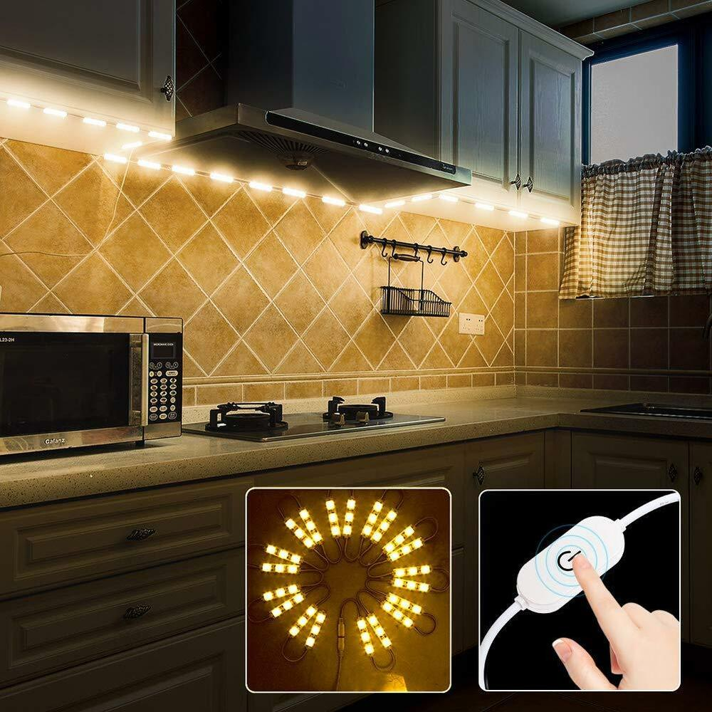 Kitchen Cabinet Light: 60leds Warm White Under Cabinet Lights Closet Kitchen