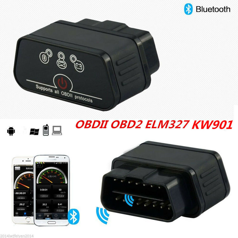 kw901 odb2 obdii car diagnostic scanner code reader elm327 bluetooth for android ebay. Black Bedroom Furniture Sets. Home Design Ideas