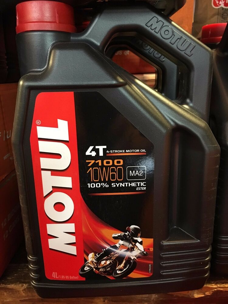 motul 7100 racing road and track 10w60 motorcycle oil 4l 1 gallon synthetic ebay. Black Bedroom Furniture Sets. Home Design Ideas