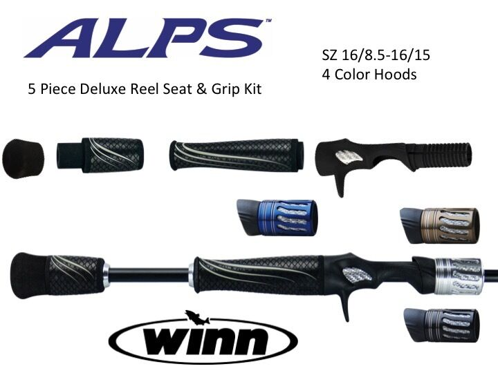 Alps tex winn split grips casting reel seat assembly kit for Winn fishing grips