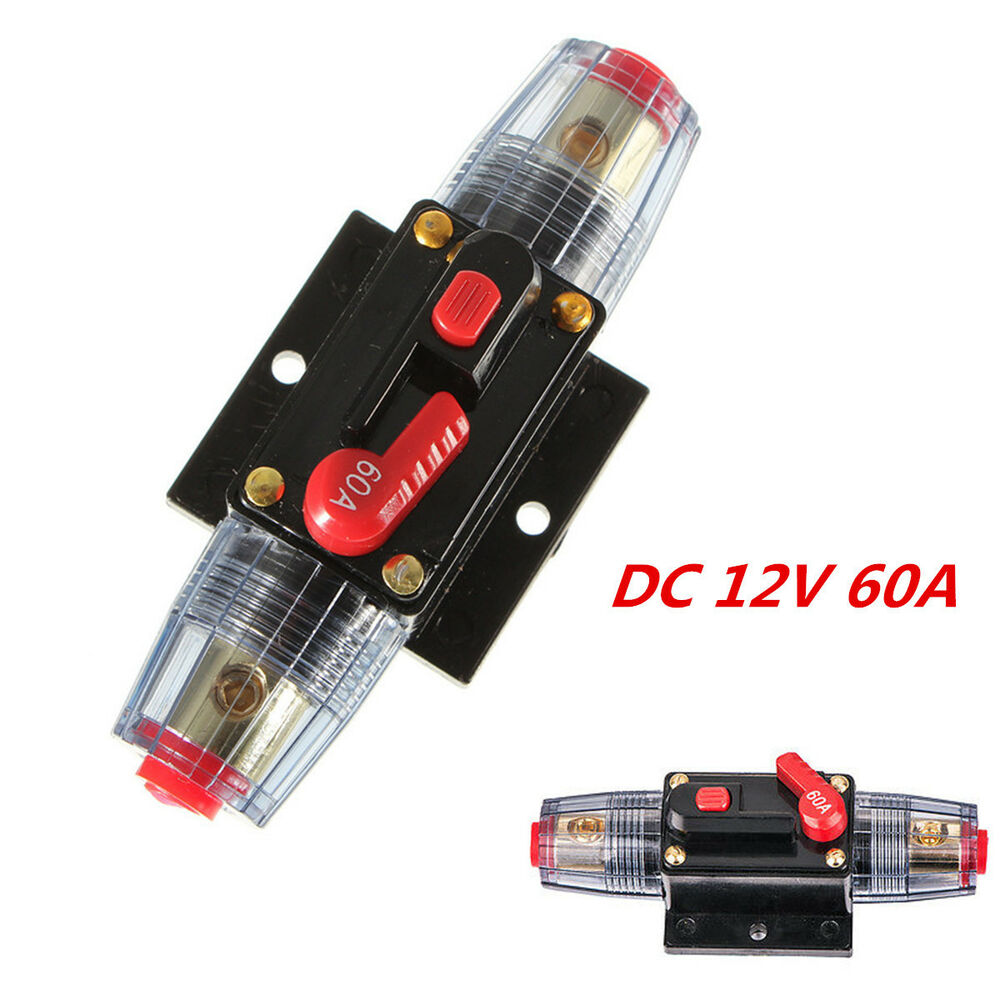 Inline Circuit Tester : Dc v car audio inline circuit breaker fuse for system