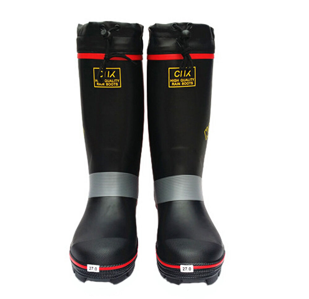 Mens dunlop waterproof wellington rain festival non slip for Waterproof fishing boots