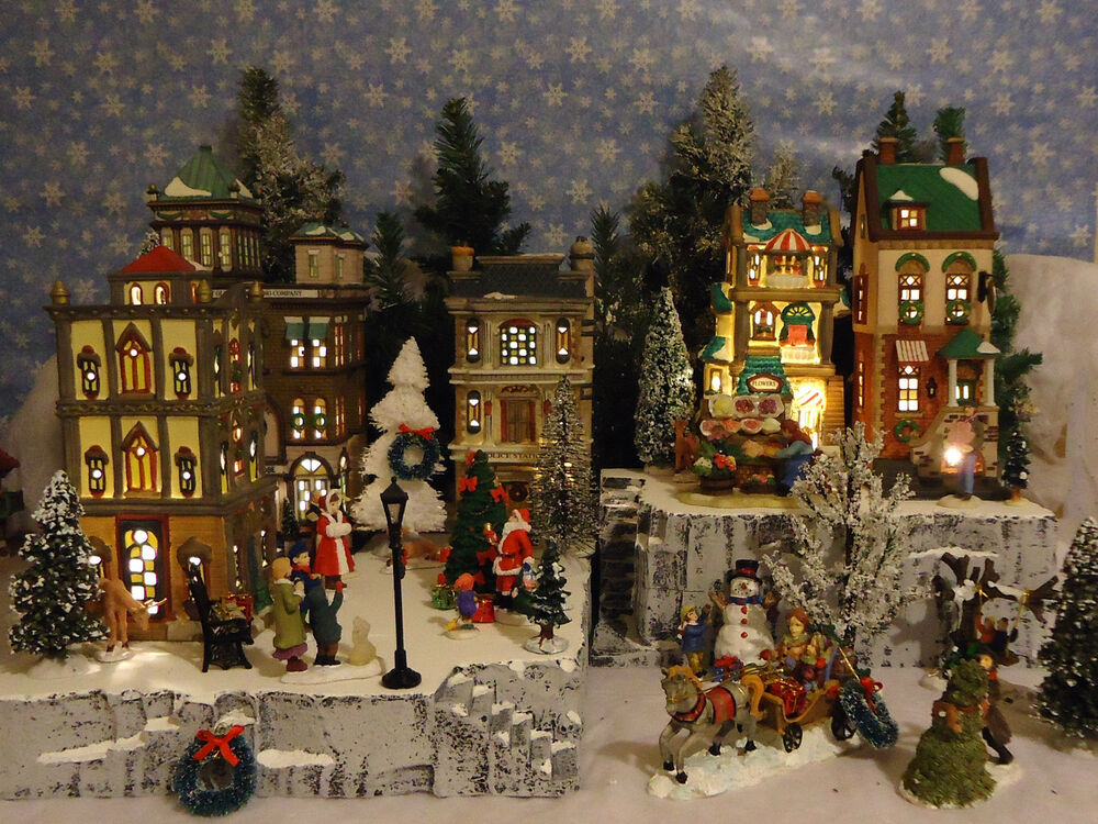 Christmas Snow Village Display Platform Base Dept 56 Lemax