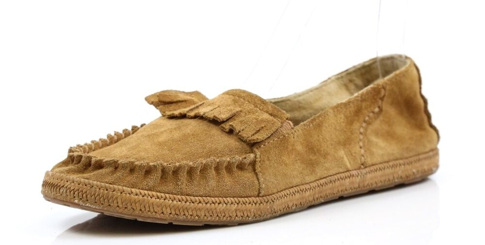 eb2e9cab7c94 Details about Kids Ugg Australia Martin Chestnut Moccasin Slippers Size 5