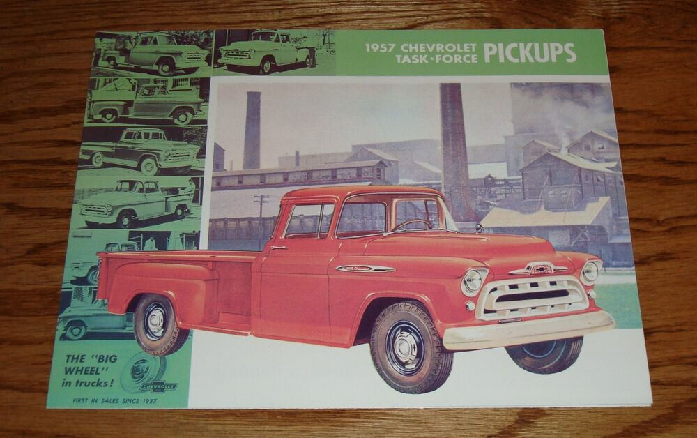 1957 Chevrolet Truck Task Force Pickup Foldout Sales