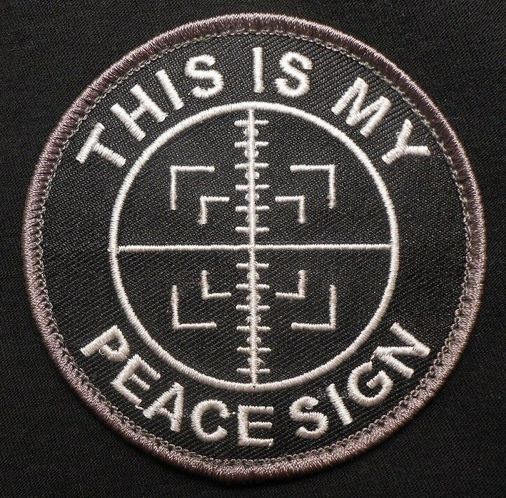 Ebay Bid Sniper >> THIS IS MY PEACE SIGN ARMY MORALE USA TACTICAL SNIPER ...
