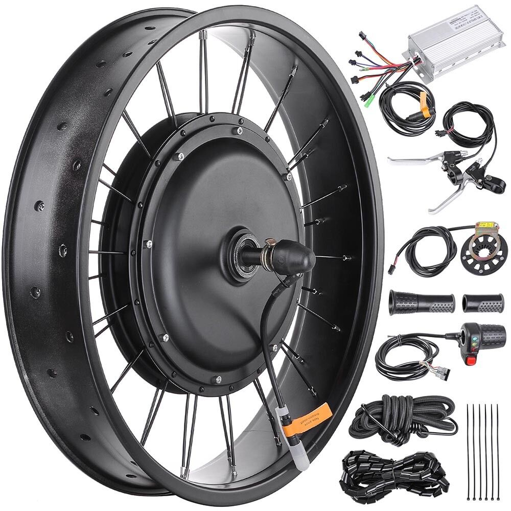 """Fat Tire Electric Motor Kit: 48V 1000W 20"""" Front Wheel Electric Bicycle Motor"""