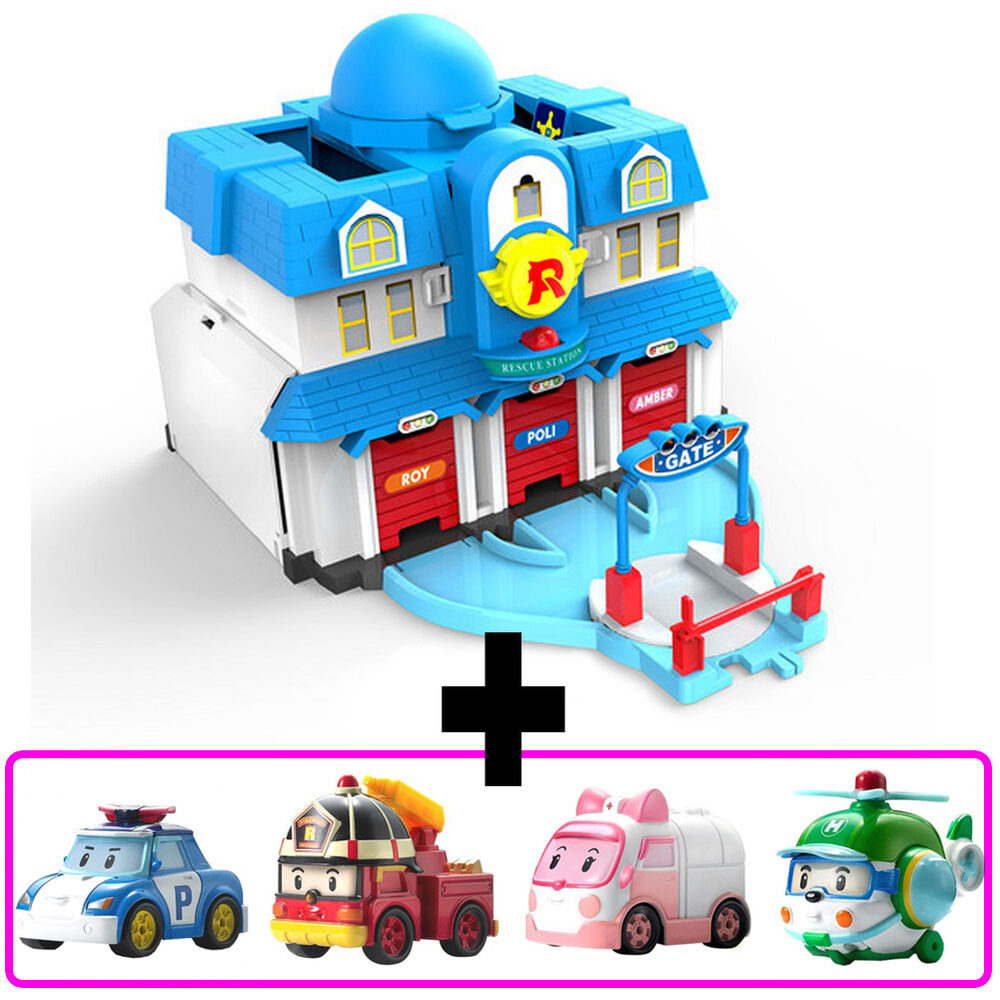 Robocar poli open headquarter play set with jin 4pcs poli roy heli amber 4891813833048 ebay - Personnage de robocar poli ...