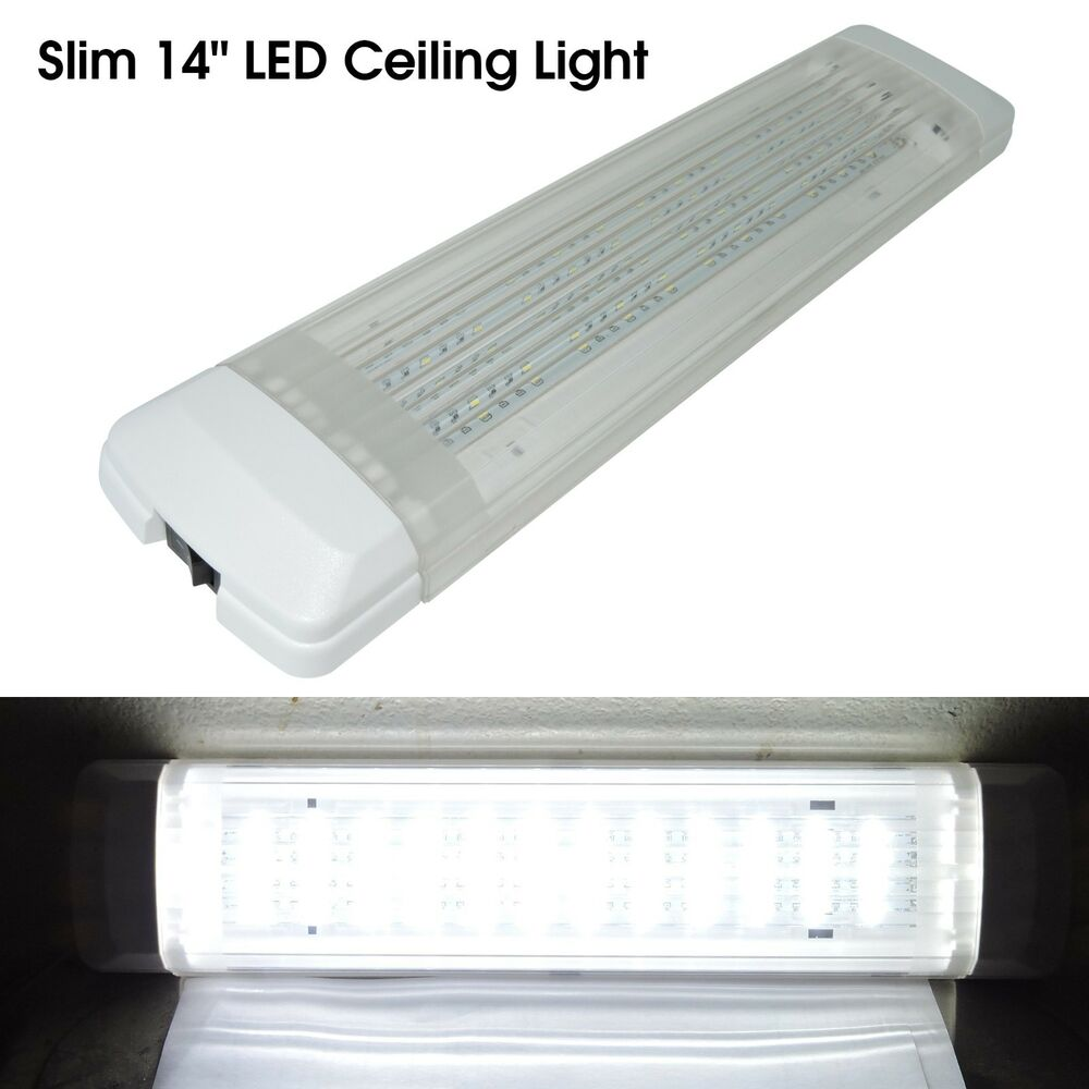 New 15 450lm Led 12v Interior Light Fixture White Cargo Camper Rv Trailer Boat Ebay
