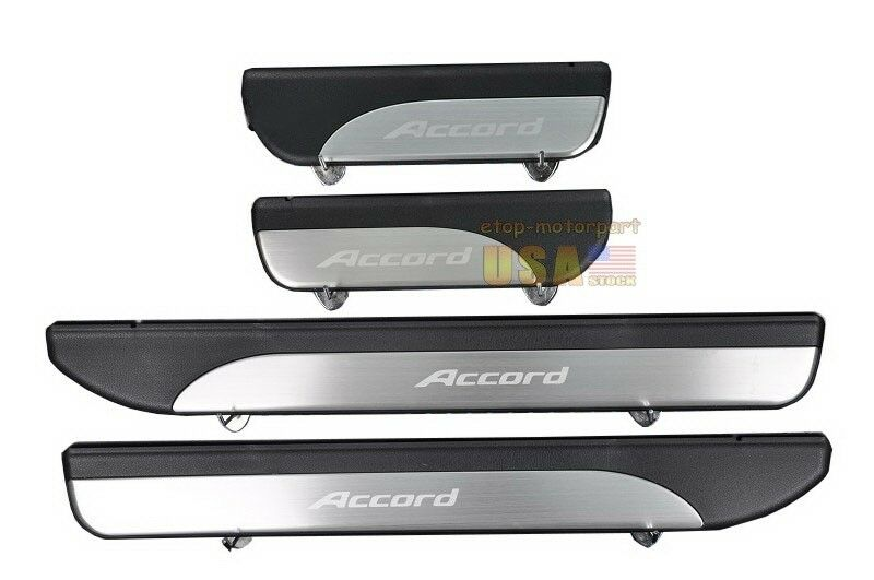 4 Door Stainless Door Sill Plate Guard For Accord Mk9 2013