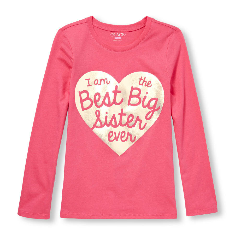 New Best Big Sister Ever Girls Shirts 5 6 7 8 10 12 14