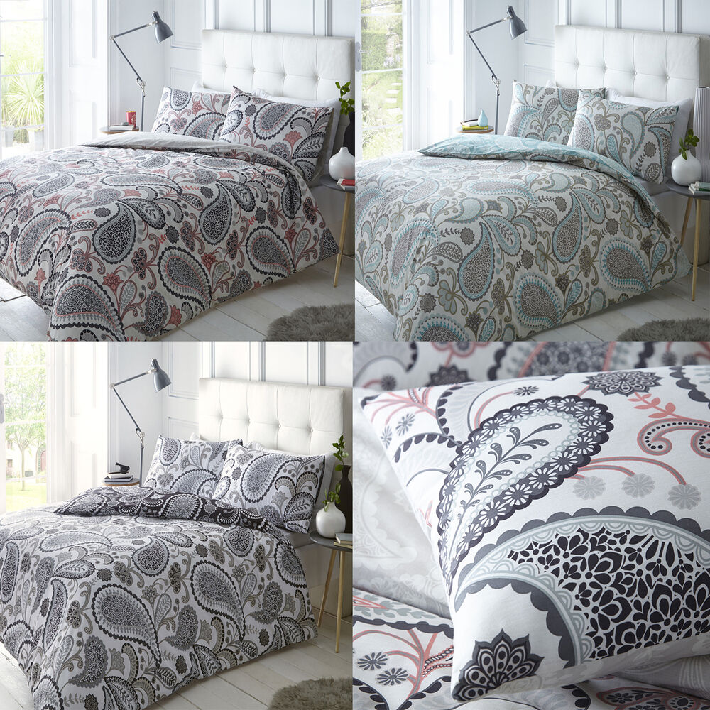 New Paisley Duvet Quilt Bedding Cover Pillowcase Set Shell