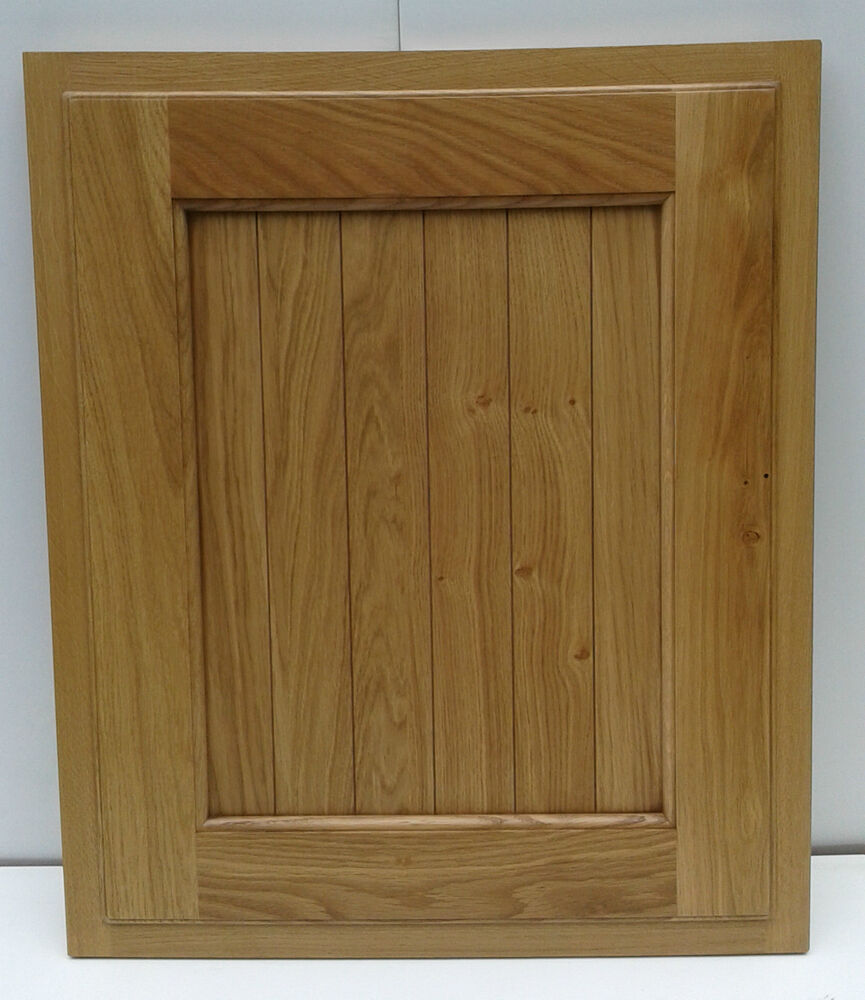 B&Q Chillingham Oak Kitchen Unit Cabinet Cupboard Doors T&G Shaker Paneled