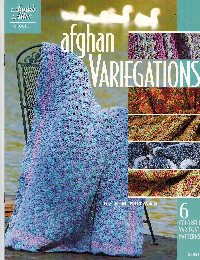 Crochet Afghan Patterns With Variegated Yarn : Crochet: Afghan Variegations - 6 Colorful Variegated ...