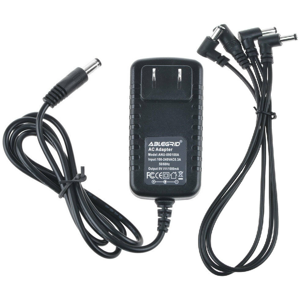 guitar effect pedal 3 way daisy chain power supply cable with 9v 1a dc adapter ebay. Black Bedroom Furniture Sets. Home Design Ideas