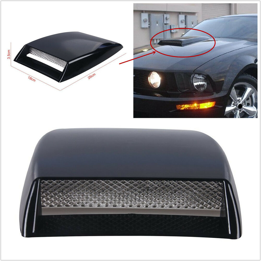 Air Scoops For Cars : Universal car decorative simulation air flow intake scoop