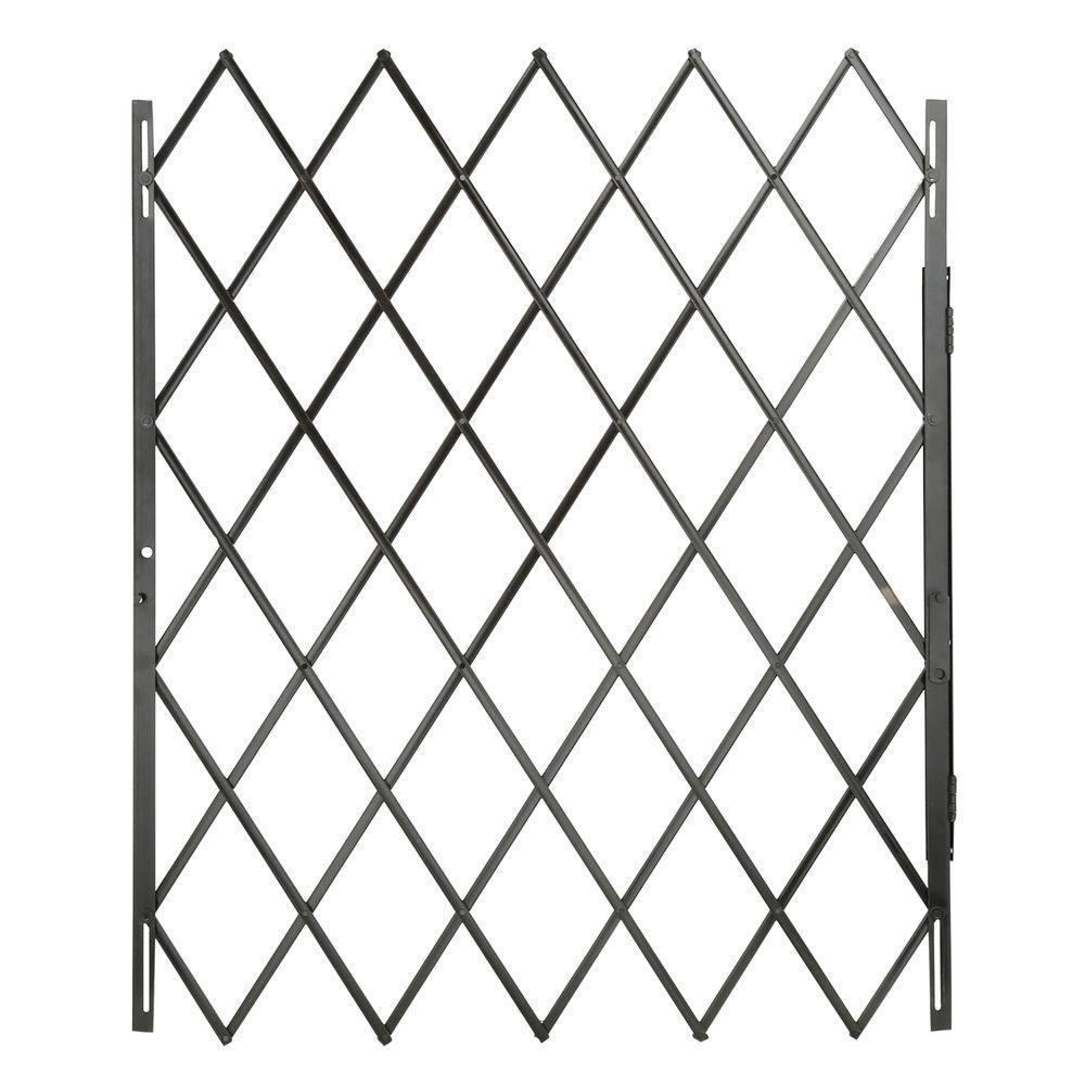 black expandable security gate heavy