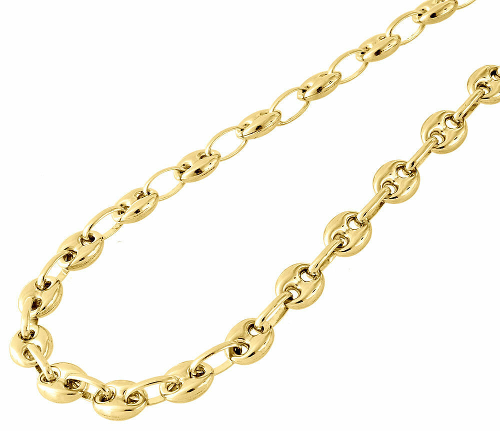 10K Yellow Gold 65MM Wide Puffed Gucci Mariner Link Chain