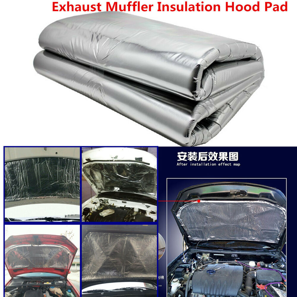 Car Exhaust Hood ~ Heat shield mat car turbo exhaust muffler insulation hood