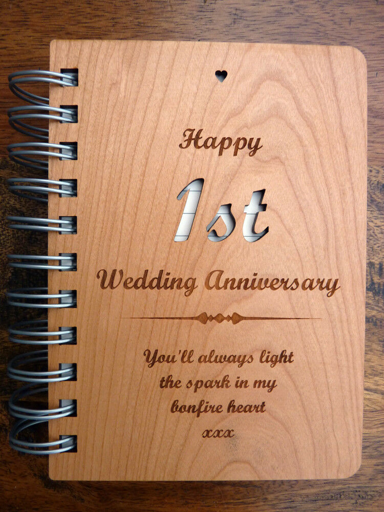 First Anniversary Wedding Gift: First 1st Paper Wedding Anniversary Gift: Personalised