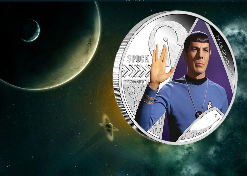 2015 P Star Trek Spock 1oz 999 Silver Proof Coin In