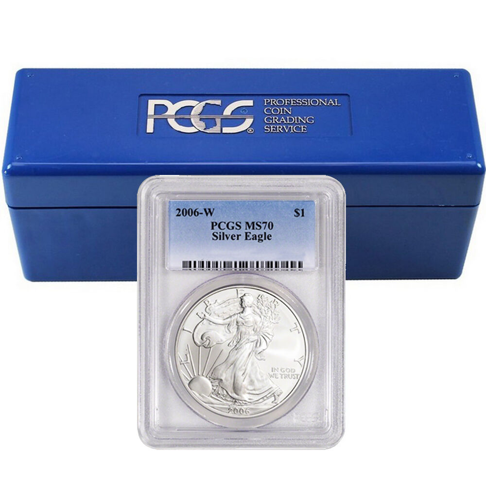2006 2016 W Burnished Silver Eagle Set Pcgs Ms70 9 Coins