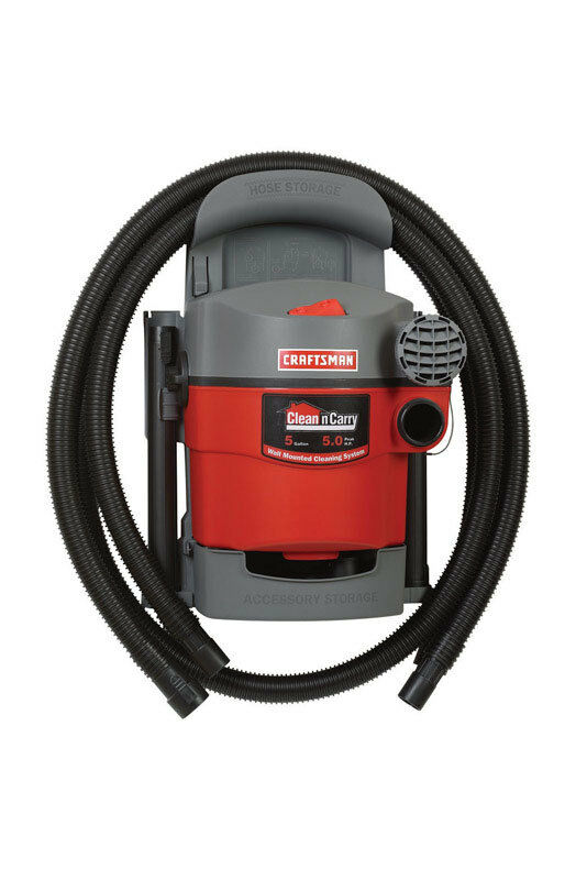 craftsman wall mount wet dry vac garage car shop vacuum cleaner auto home 648846005447 ebay. Black Bedroom Furniture Sets. Home Design Ideas