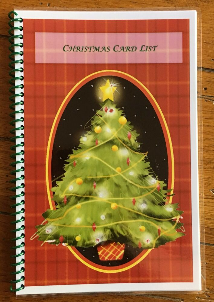 Christmas Card Address Book Organizer Personalized Gift 430 entries ...