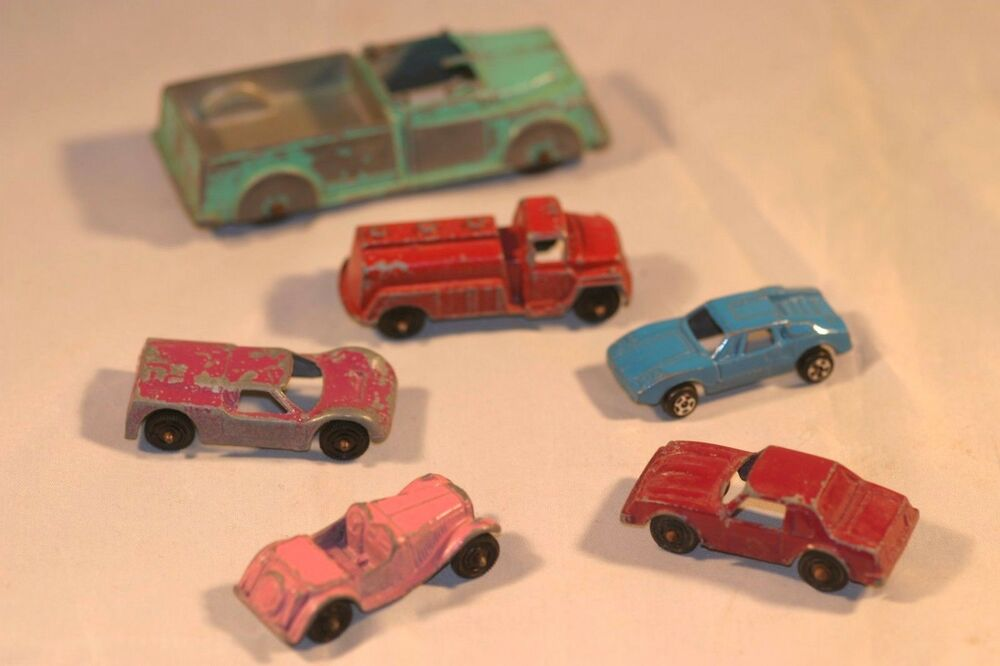 vintage tootsie toy car lot fire truck 6 pieces ebay. Black Bedroom Furniture Sets. Home Design Ideas