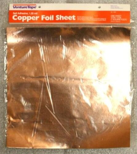 Leaded Copper Sheets : Venture copper foil sheet adhesive for stained glass