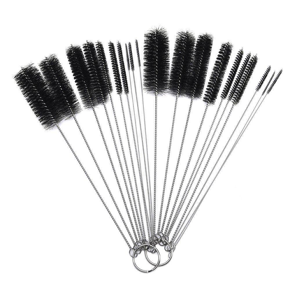 Kitchen Cleaner Brush: 10Pcs Household Bottle Tube Brushes Cleaning Brush Set