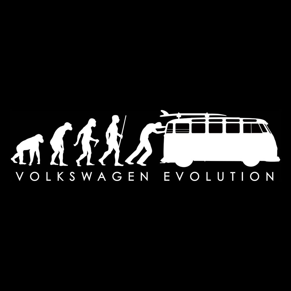 VW VOLKSWAGEN T SHIRT - Evolution BUS - VW TEE SHIRT | eBay