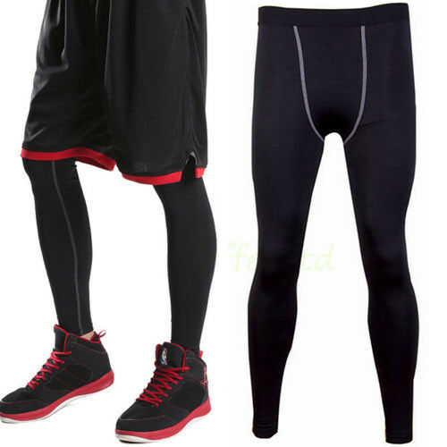 b08ae8ee94202 Details about Men Athletic Pants Compression Fitness Training Running Base  Layer Sports Tights