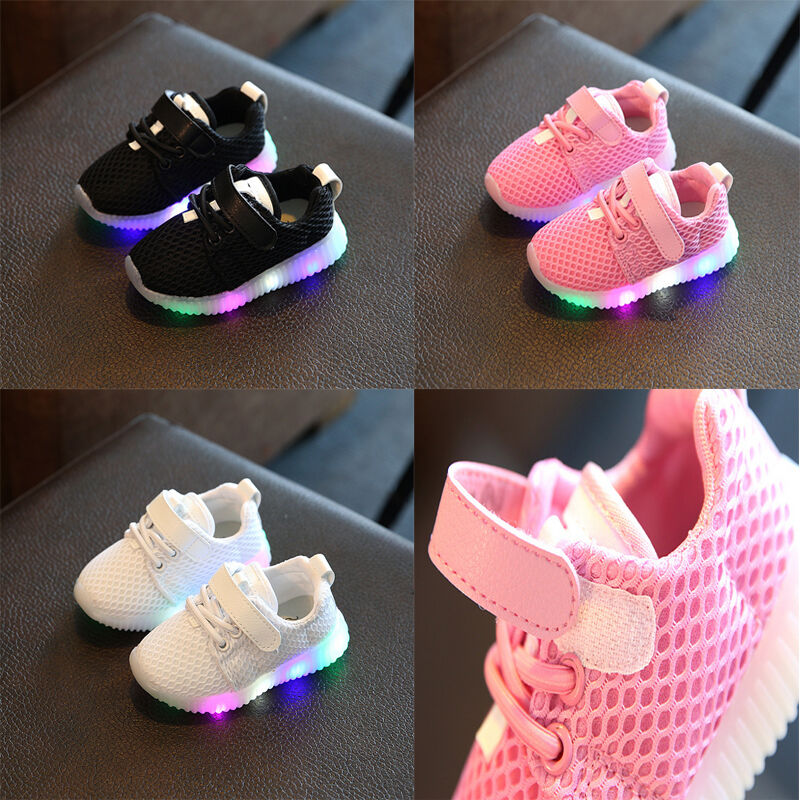 Baby Kids LED Shoes Luminous Shoes Trainers Boys Girls