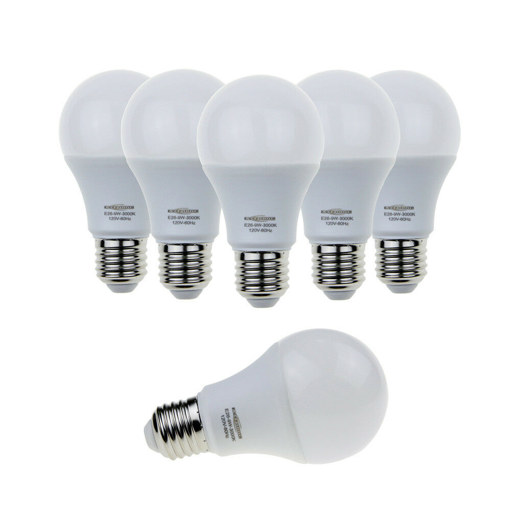 Wholesale E26 E27 9w A19 Led Bulb Soft White 3000k 6000k Equivalent 60w Light Ebay