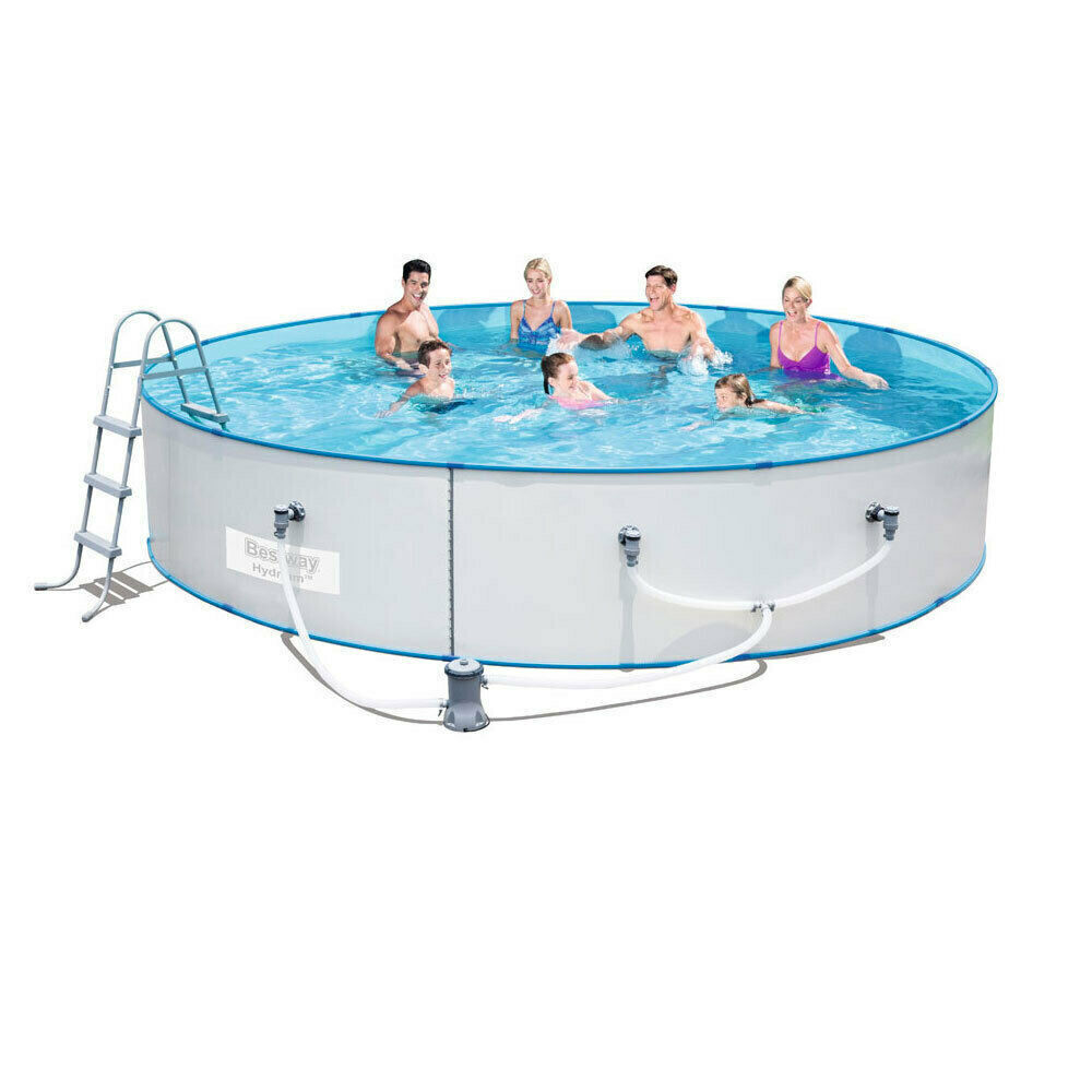 Bestway Steel Sidewall Above Ground Swimming Pool 15ft 460x90cm Hydrium Splasher Ebay