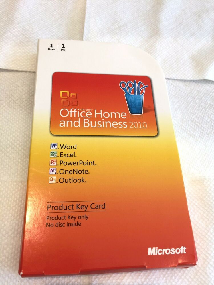 microsoft office home and business 2010 genuine retail. Black Bedroom Furniture Sets. Home Design Ideas