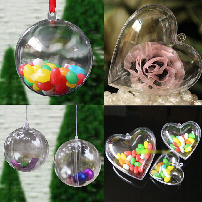christmas tree ball fillable candy box bauble decoration. Black Bedroom Furniture Sets. Home Design Ideas