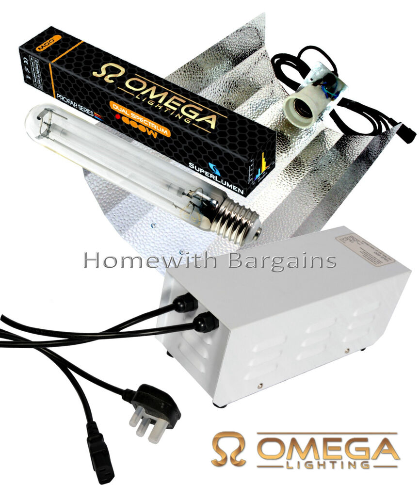 250w 400w 600w Omega Metal Ballast Grow Light Kit Hps