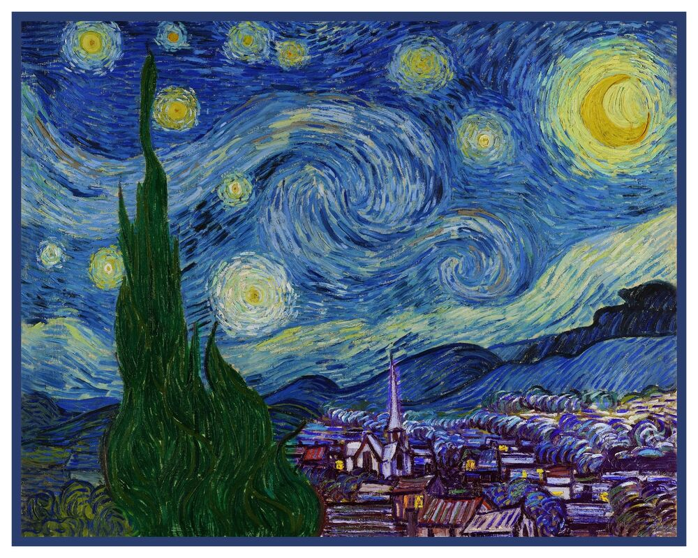 Starry Starry Night Impressionist Vincent Van Gogh Counted