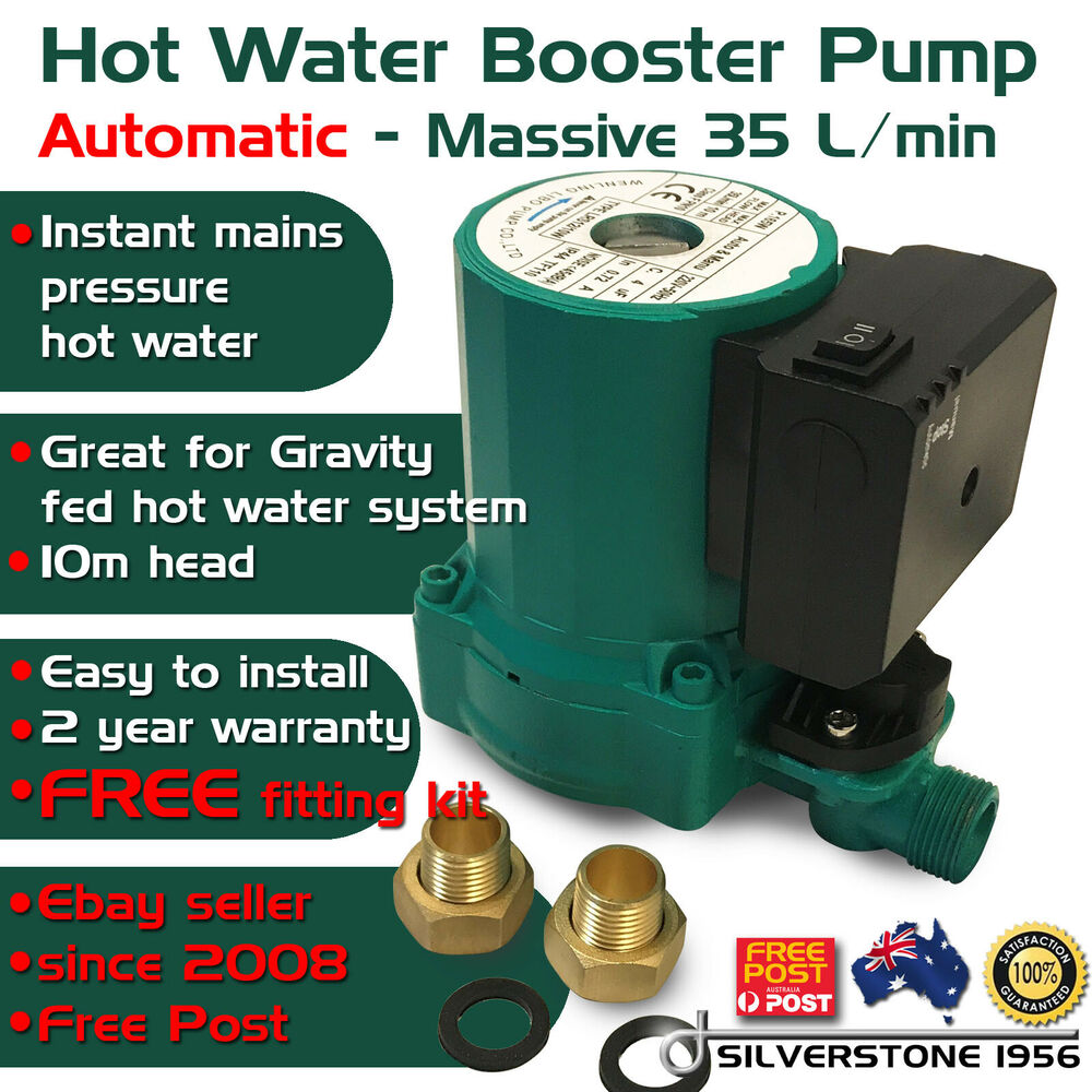 Hot Water Shower Automatic On Off Booster Pump Gravity Fed
