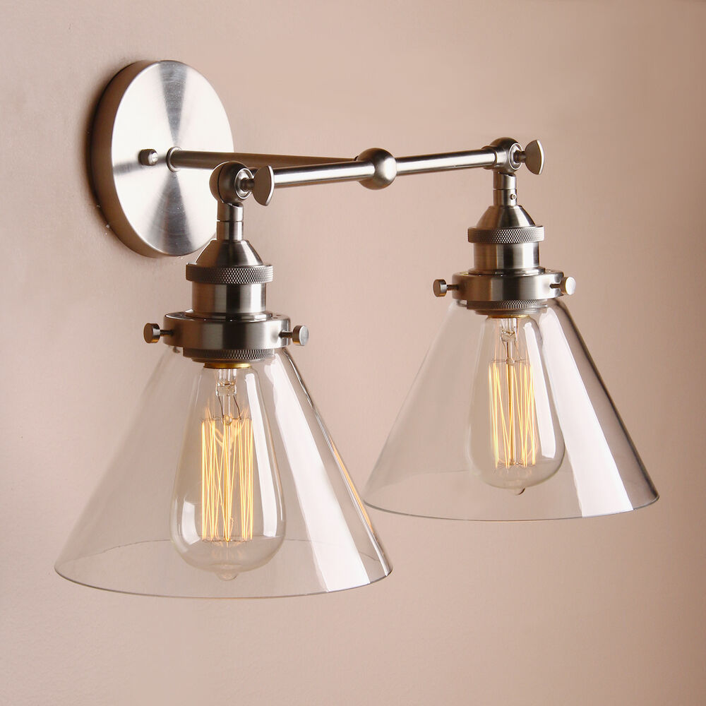 Double Industrial Wall Lights : PERMO 18.5