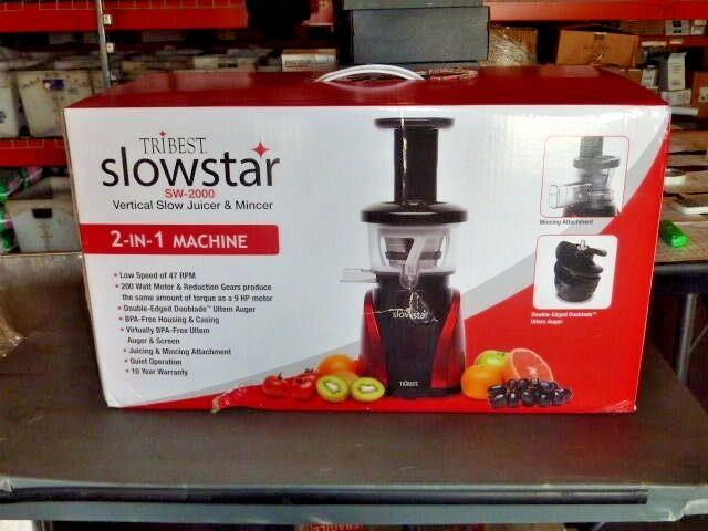 Tribest Slowstar Slow Juicer Sw 2000 Test : NEW Tribest SW-2000-B Slowstar vertical Slow Cold Press Juicer Mincer sw2000b eBay