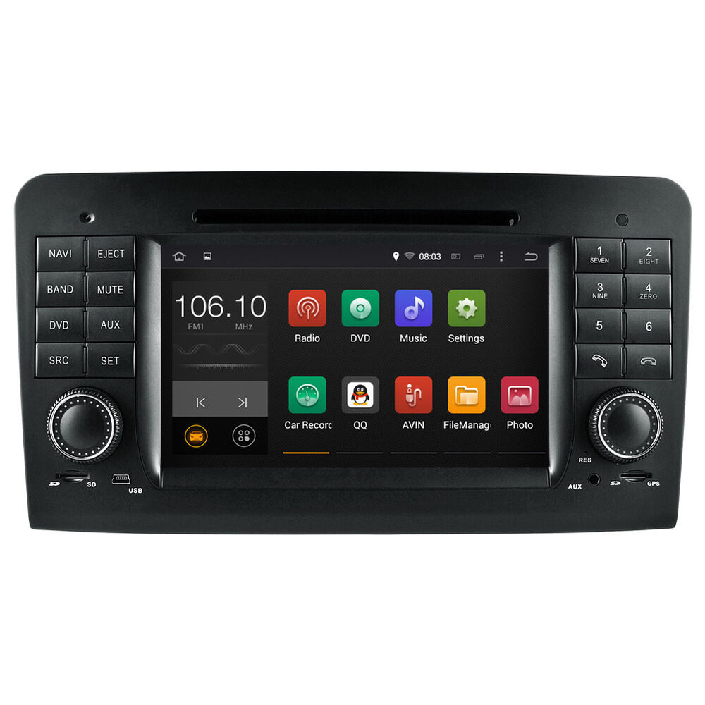 android 5 1 autoradio dvd gps satnav for mercedes benz ml. Black Bedroom Furniture Sets. Home Design Ideas