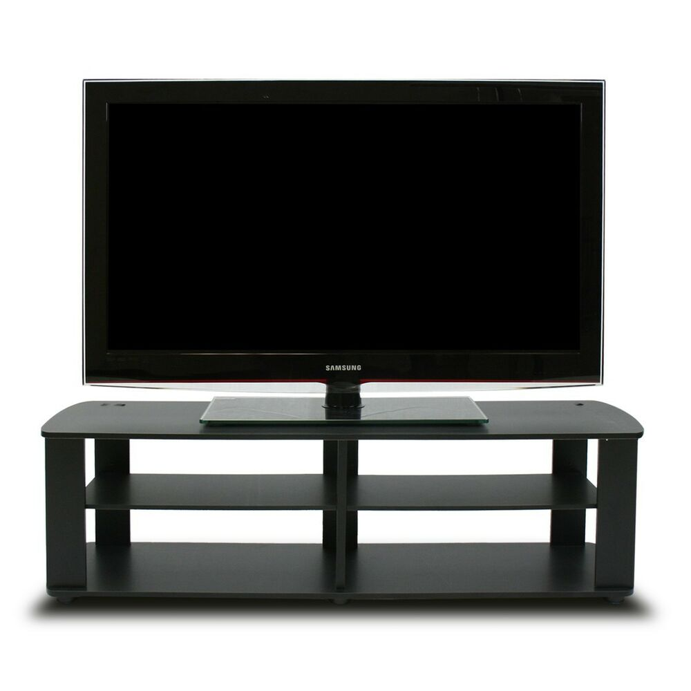black tv stand media entertainment center 42 50 60 inch flat screen television ebay. Black Bedroom Furniture Sets. Home Design Ideas